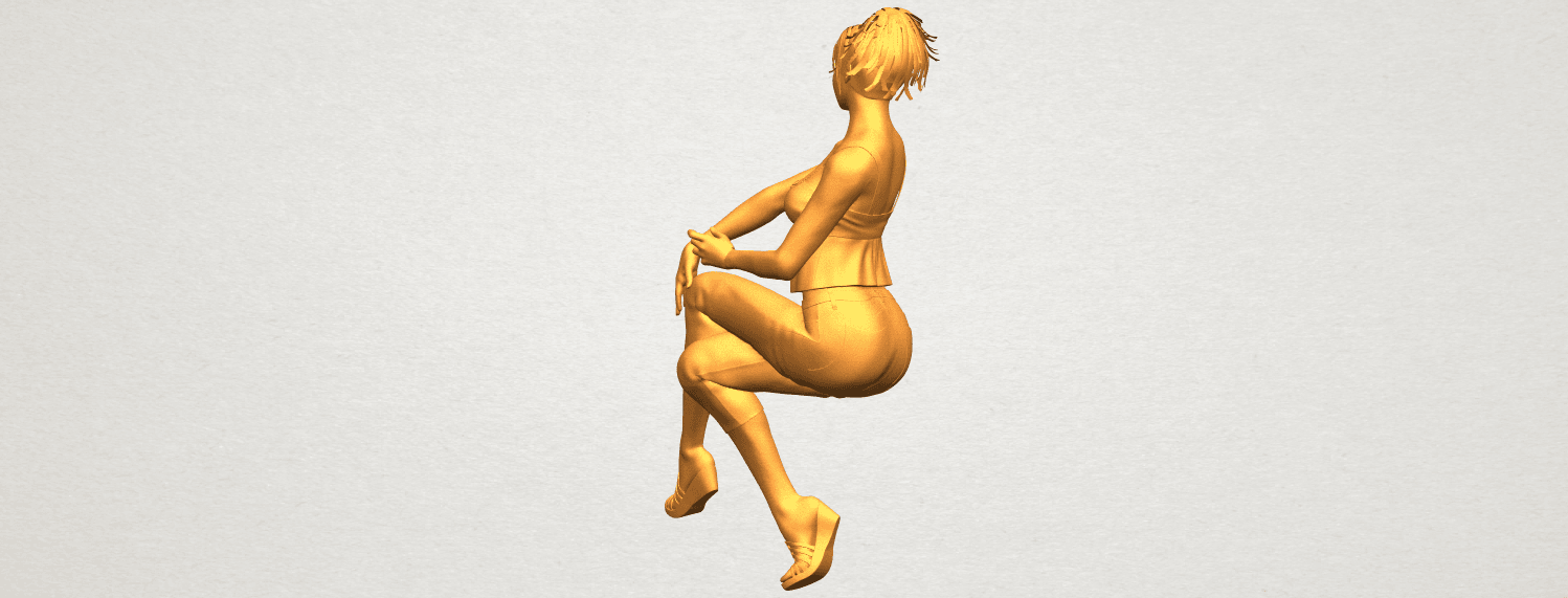 A08.png Download free STL file Naked Girl H06 • Object to 3D print, GeorgesNikkei