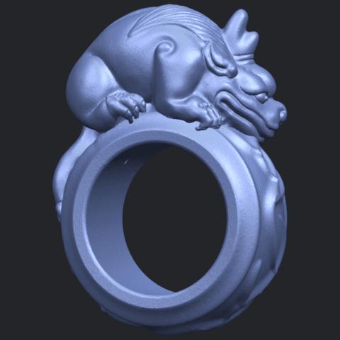 07_TDA0504_Pi_Xiu_RingB07.png Télécharger fichier STL gratuit Bague Pi Xiu Ring • Modèle à imprimer en 3D, GeorgesNikkei