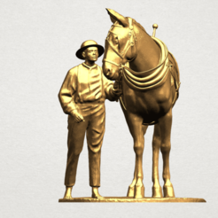 Free 3d printer model  Horse with Man 01, GeorgesNikkei