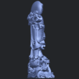 Free 3D printer designs Avalokitesvara Bodhisattva (with fish) 02, GeorgesNikkei