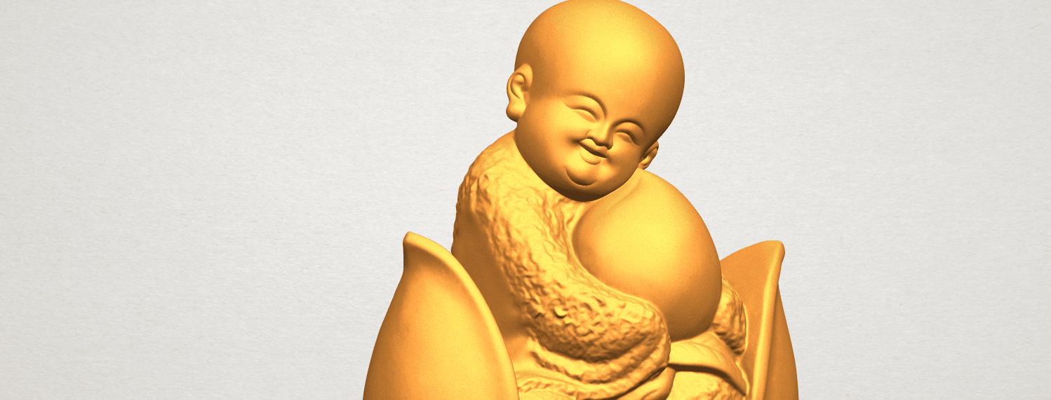 A11.png Download free STL file Little Monk 03 • 3D print template, GeorgesNikkei