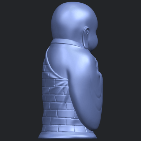 Little_Monk_80mmB08.png Download free STL file Little Monk 01 • 3D printable design, GeorgesNikkei