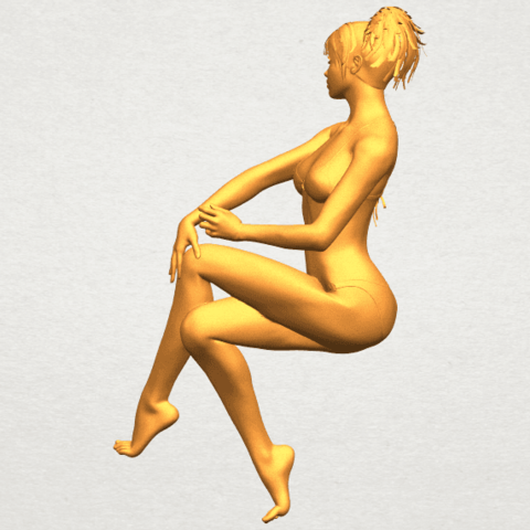 A07.png Download free STL file Naked Girl H02 • 3D print object, GeorgesNikkei