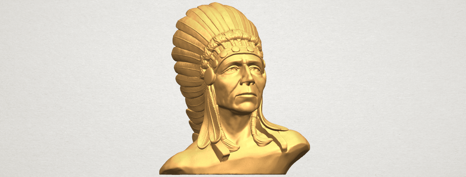 TDA0489 Red Indian 03 - Bust A07.png Download free STL file Red Indian 03 • 3D printer model, GeorgesNikkei