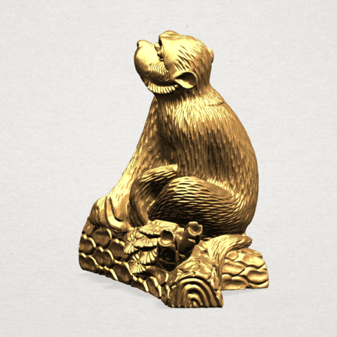 Chinese Horoscope09 - B02.png Télécharger fichier STL gratuit Horoscope Chinois 09 Singe 09 Singe • Objet pour imprimante 3D, GeorgesNikkei