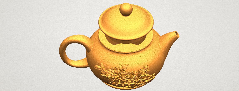 TDA0324 Tea Pot (iii)- Body and Cap A05.png Download free STL file Tea Pot 03 • 3D printing template, GeorgesNikkei