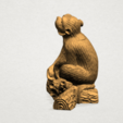 Chinese Horoscope09 - A03.png Télécharger fichier STL gratuit Horoscope Chinois 09 Singe 09 Singe • Objet pour imprimante 3D, GeorgesNikkei