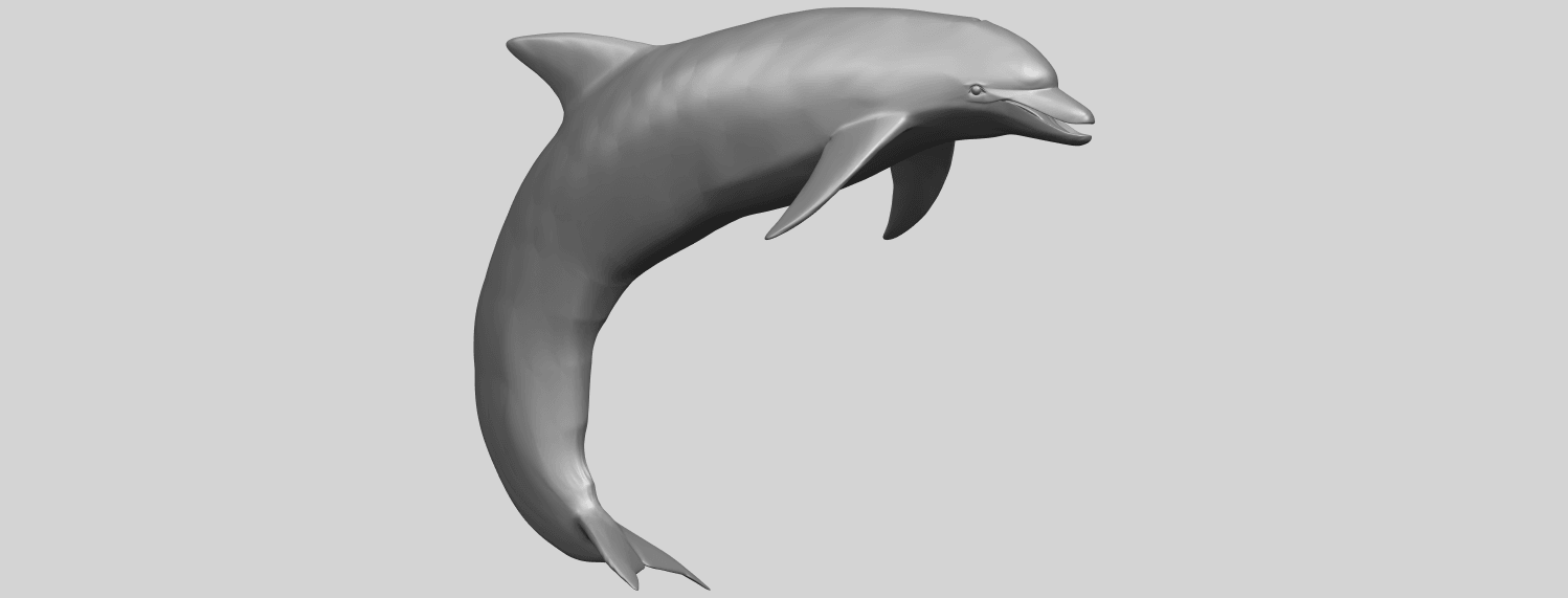 27_TDA0613_Dolphin_03A07.png Download free STL file Dolphin 03 • Design to 3D print, GeorgesNikkei