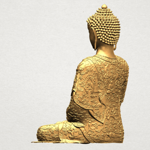 Thai Buddha(i) A04.png Download free STL file Thai Buddha (i) • Model to 3D print, GeorgesNikkei