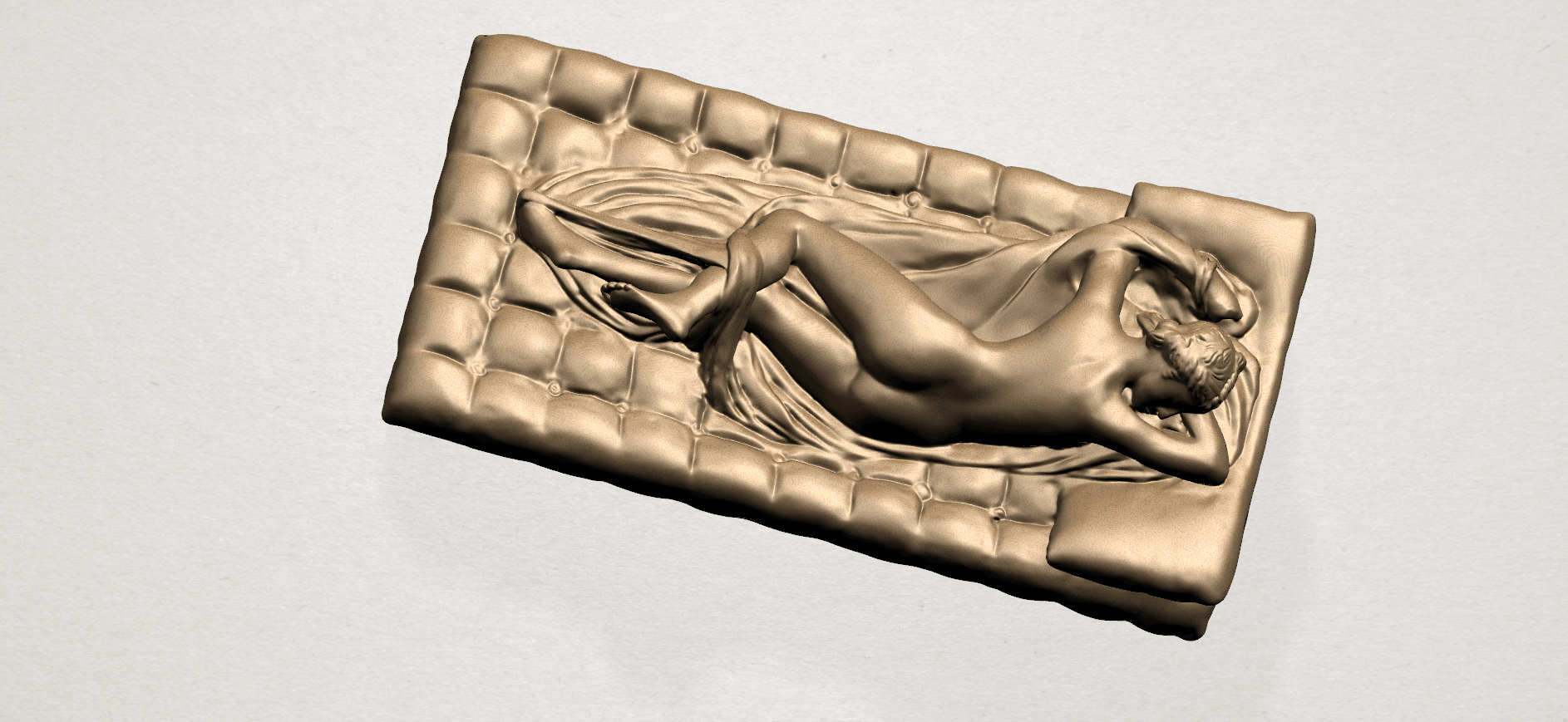 Naked Body Lying on Bed A06.png Download free STL file Naked Girl - Lying on Bed 02 • Object to 3D print, GeorgesNikkei