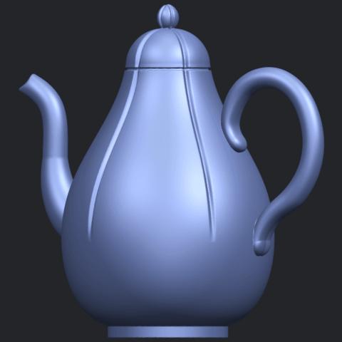 19_TDA0323_Tea_Pot_iiB02.png Download free STL file Tea Pot 02 • 3D printer template, GeorgesNikkei