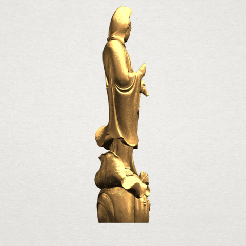 Avalokitesvara Buddha - Standing (i) A06.png Download free STL file Avalokitesvara Bodhisattva - Standing 01 • 3D printable design, GeorgesNikkei
