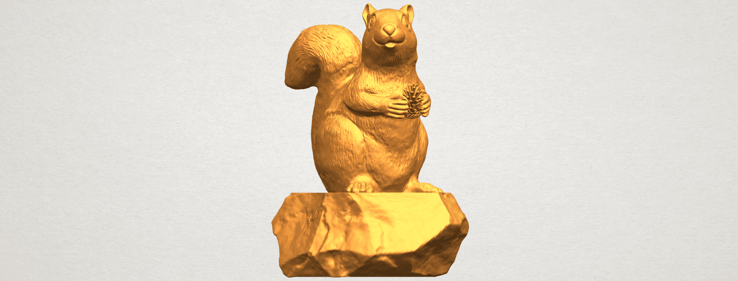 A08.png Download free STL file Squirrel 01 • Model to 3D print, GeorgesNikkei