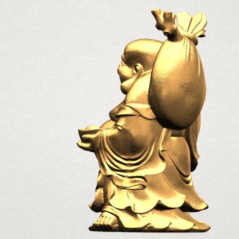 Metteyya Buddha 05 - 88mm - A04.png Télécharger fichier STL gratuit Bouddha Metteyya 05 • Objet imprimable en 3D, GeorgesNikkei