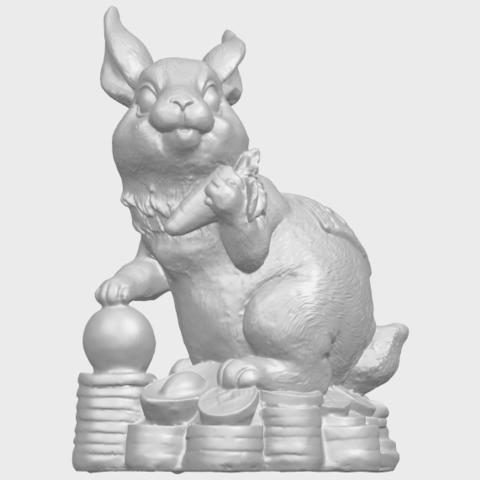 07_TDA0559_Rabbit_02A01.png Télécharger fichier STL gratuit Lapin 02 • Design imprimable en 3D, GeorgesNikkei
