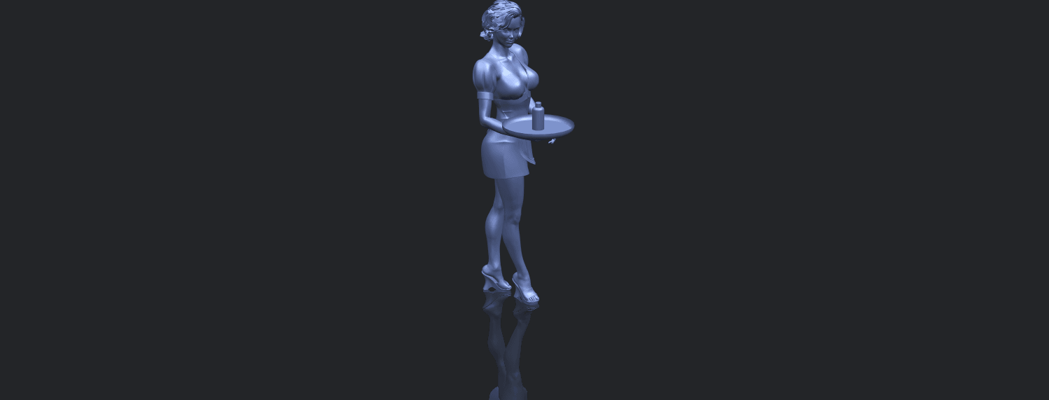 07_TDA0475_Beautiful_Girl_09_WaitressB00-1.png Download free STL file Beautiful Girl 09 Waitress • 3D printable object, GeorgesNikkei