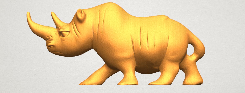 TDA0310 Rhinoceros (ii) A01.png Download free STL file Rhinoceros 02 • 3D printing model, GeorgesNikkei
