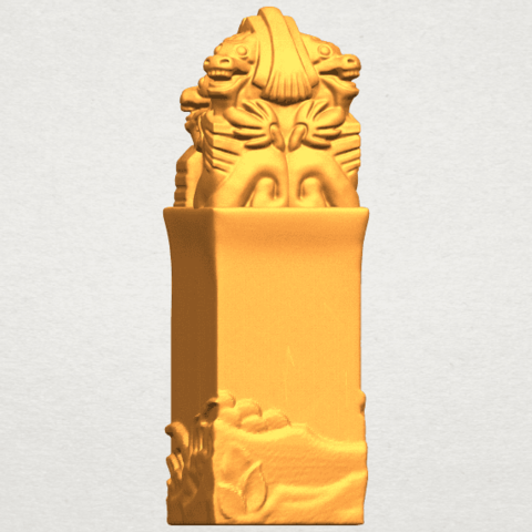 A06.png Download free STL file Dragon Stamp 02 • 3D printing model, GeorgesNikkei