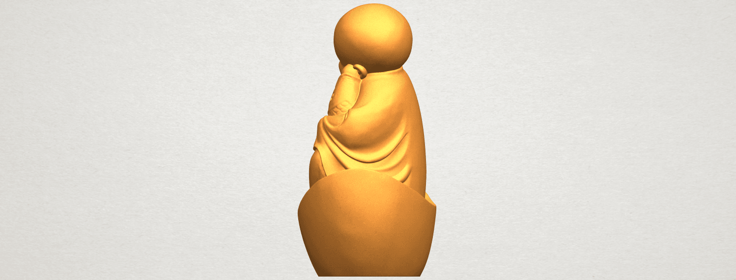 A04.png Download free STL file Little Monk 04 • 3D printer template, GeorgesNikkei