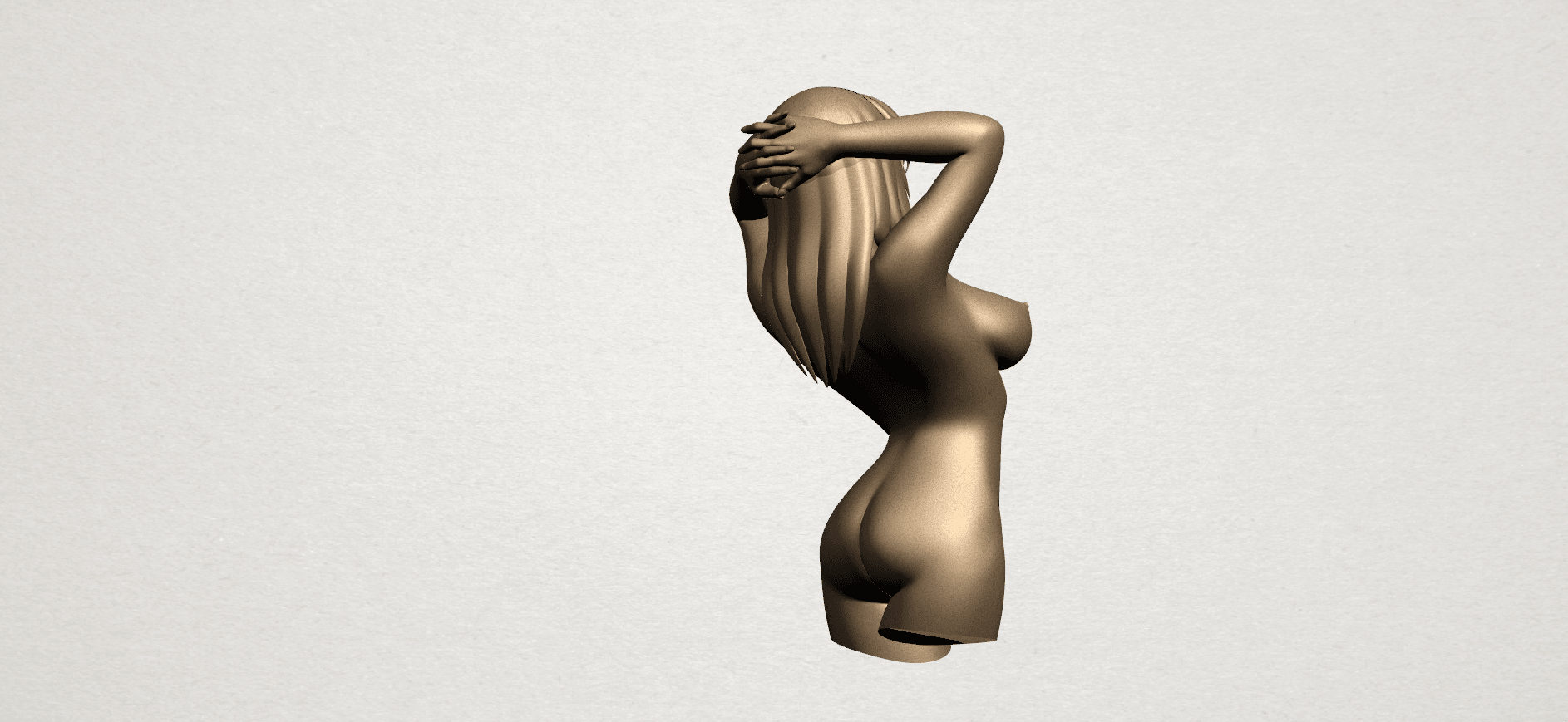 Naked Girl - half body A05.png Download free STL file Naked Girl 01- half body • 3D printing template, GeorgesNikkei