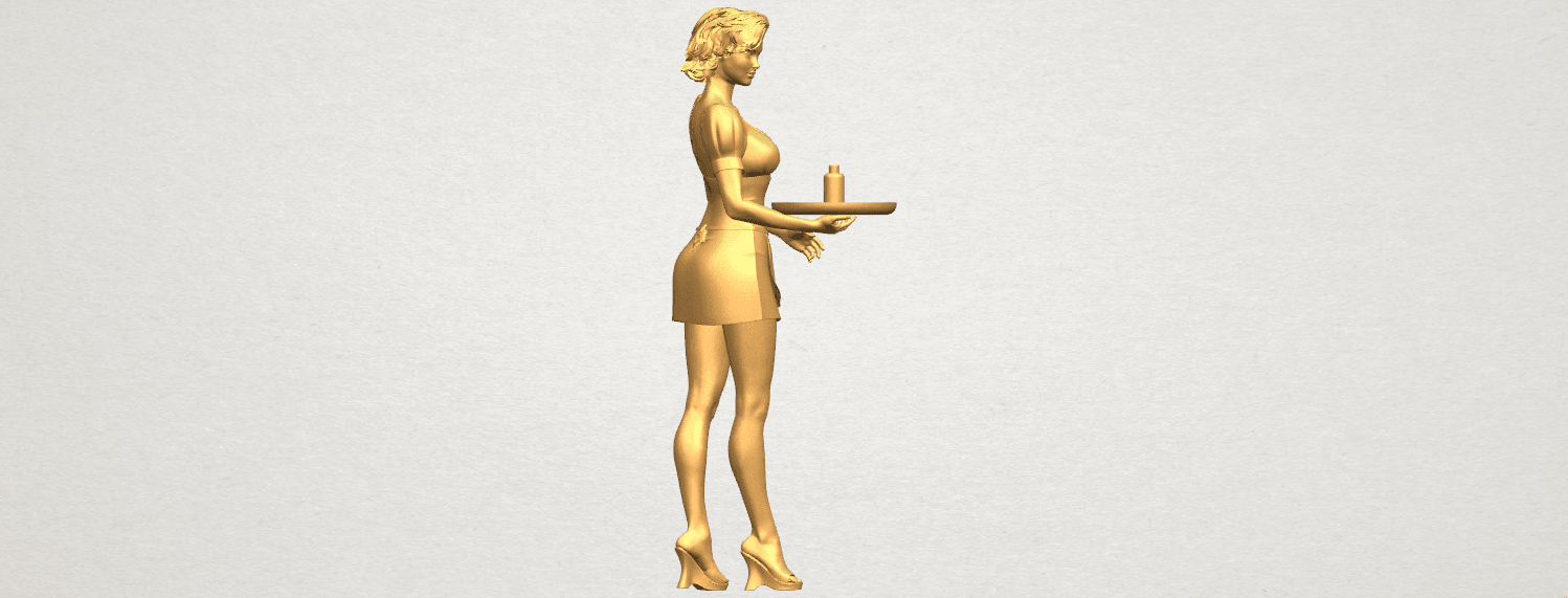 TDA0475 Beautiful Girl 09 Waitress A05.png Download free STL file Beautiful Girl 09 Waitress • 3D printable object, GeorgesNikkei