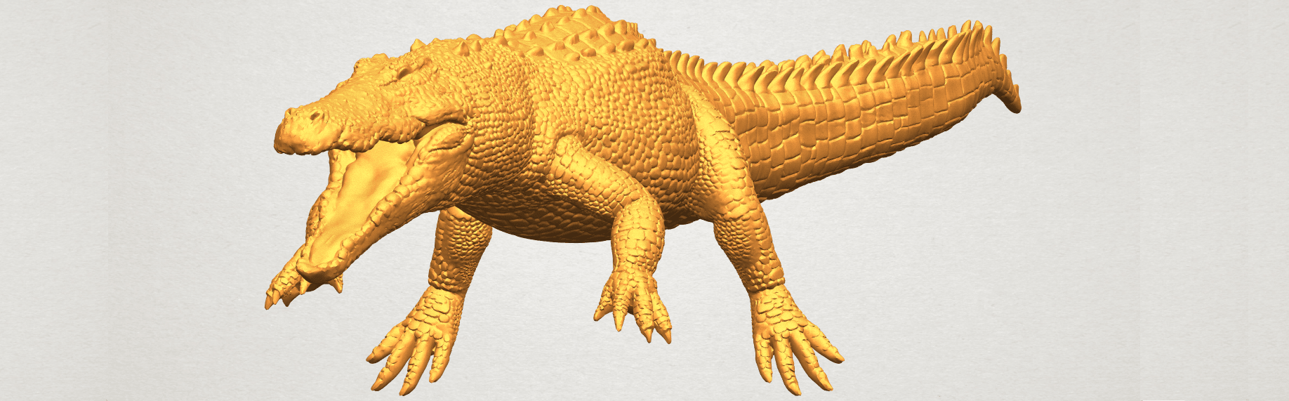 A04 - Copy.png Download free STL file Alligator 01 • 3D printer object, GeorgesNikkei