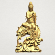 Download free 3D printing templates Avalokitesvara Bodhisattva (with fish) 01, GeorgesNikkei