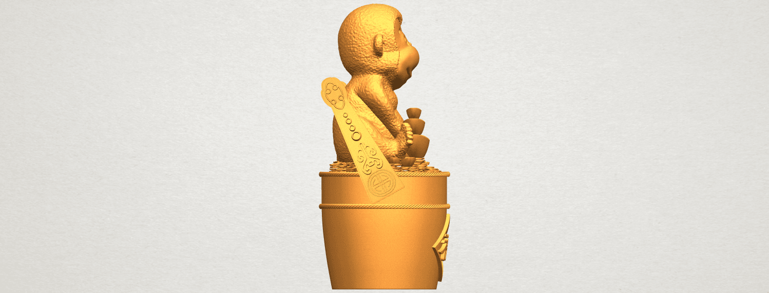A09.png Download free STL file Monkey A05 • 3D print design, GeorgesNikkei