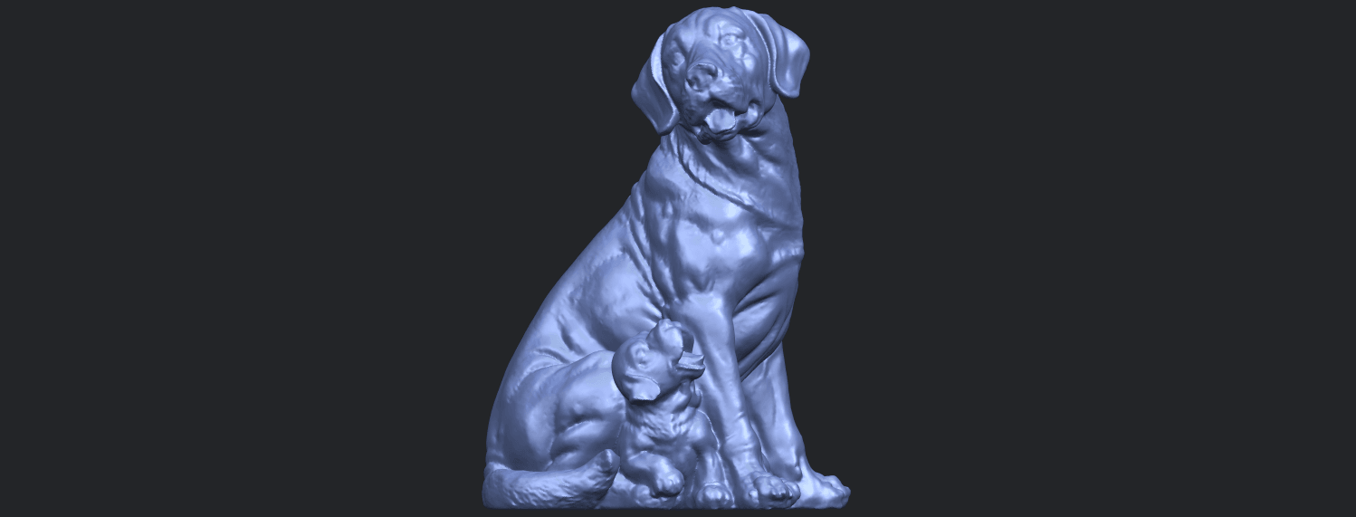 02_TDA0526_Dog_and_PuppyB03.png Download free STL file Dog and Puppy 01 • Model to 3D print, GeorgesNikkei