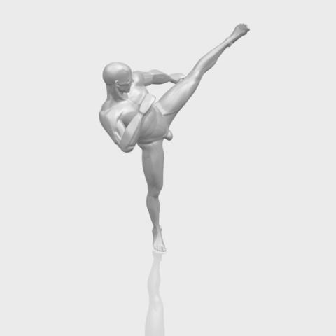 06_TDA0547_Man_KickingA00-1.png Télécharger fichier STL gratuit Man Kicking • Objet pour impression 3D, GeorgesNikkei