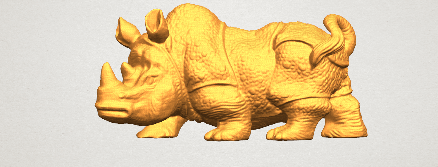 TDA0312 Rhinoceros (iv) Female A01.png Download free STL file  Rhinoceros 05 Female • 3D print object, GeorgesNikkei