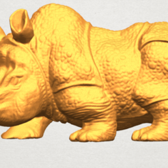 Free STL files  Rhinoceros 05 Female, GeorgesNikkei