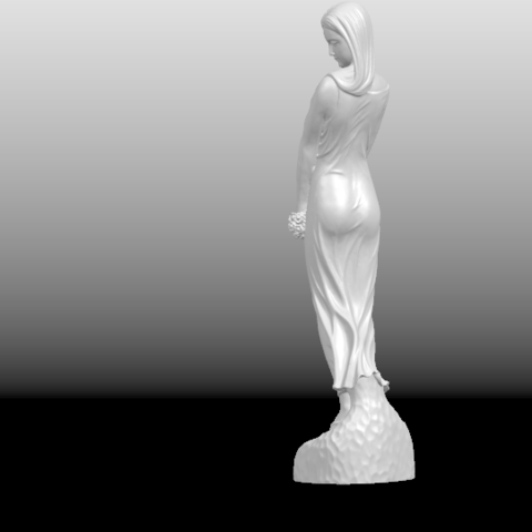 03.png Download free STL file Asian Girl 01 • 3D printer template, GeorgesNikkei