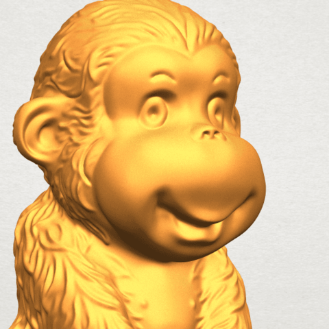 A11.png Download free STL file Monkey A01 • 3D printer model, GeorgesNikkei