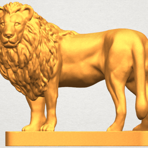 TDA0313 Lion (iii) A01.png Download free STL file Lion 03 • 3D printable template, GeorgesNikkei