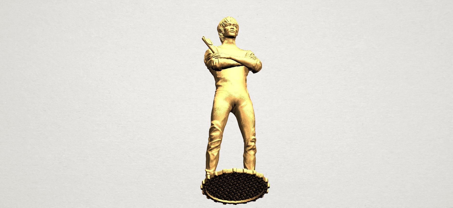 Bruce Lee A10.png Download free STL file Bruce Lee • 3D printing design, GeorgesNikkei