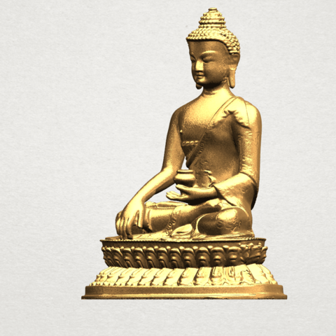 Thai Buddha (iii) A02.png Download free STL file Thai Buddha 03 • 3D printing object, GeorgesNikkei