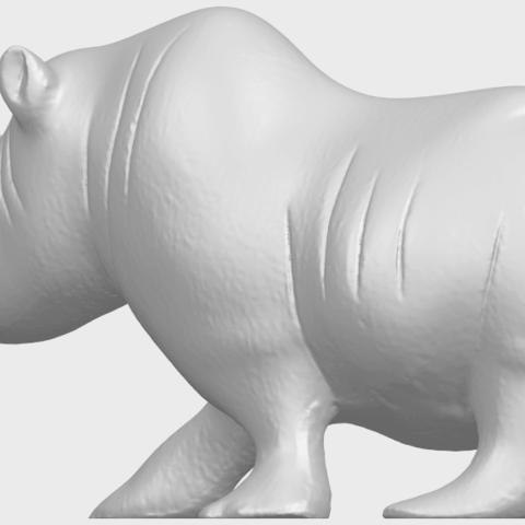 TDA0310_Rhinoceros_iiA02.png Download free STL file Rhinoceros 02 • 3D printing model, GeorgesNikkei