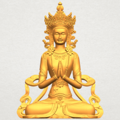 A01.png Download free STL file Tibet Budhha 01 • 3D printable template, GeorgesNikkei