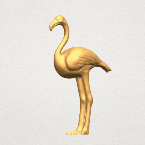 TDA0597 Flamingo 01 A07.png Download free STL file Flamingo 01 • 3D printing model, GeorgesNikkei