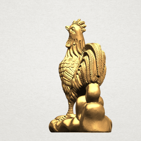 TDA0051j Chinese Horoscope10-B03.png Download free STL file Chinese Horoscope 10 Chicken - TOP MODEL • 3D printable design, GeorgesNikkei
