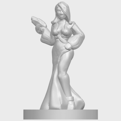 12_TDA0160_Beautiful_Anime_Girls_05_-_88mmA02.png Download free STL file Beautiful Anime Girl 05 • Template to 3D print, GeorgesNikkei