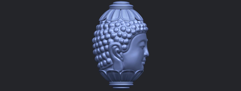 11_Buddha_Head_Sculpture_80mmB09.png Download free STL file Buddha - Head Sculpture • 3D printing model, GeorgesNikkei