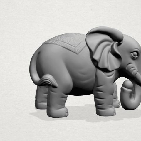 Elephant 03-A02.png Télécharger fichier STL gratuit Éléphant 03 • Modèle imprimable en 3D, GeorgesNikkei