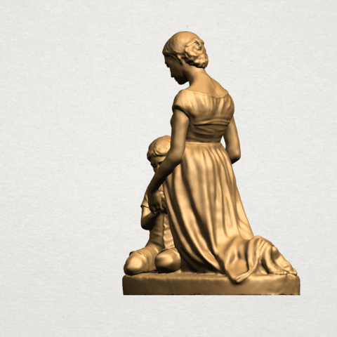 Mother-Child (ii) A02.png Download free STL file Mother and Child 02 • 3D printable design, GeorgesNikkei