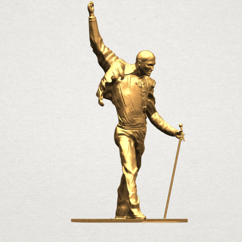 Statue of Freddie Mercury A08.png Download free STL file Statue of Freddie Mercury • 3D printable template, GeorgesNikkei