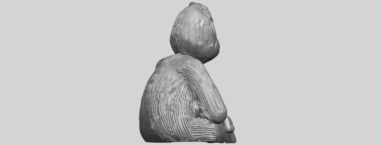 09_TDA0606_ChimpanzeeA08.png Télécharger fichier STL gratuit Chimpanzé • Design imprimable en 3D, GeorgesNikkei