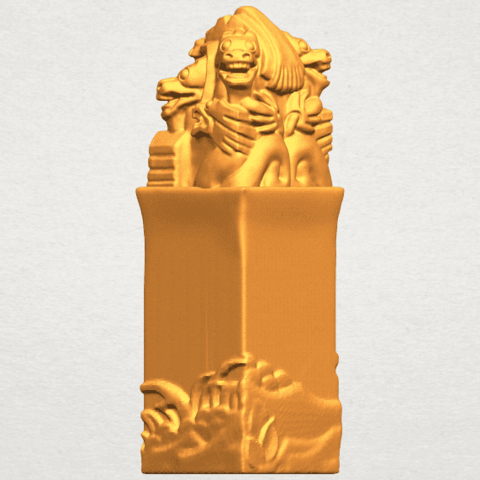 A05.png Download free STL file Dragon Stamp 02 • 3D printing model, GeorgesNikkei