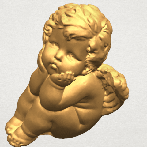 TDA0481 Angel Baby 04 A09.png Download free STL file Angel Baby 04 • 3D printable template, GeorgesNikkei
