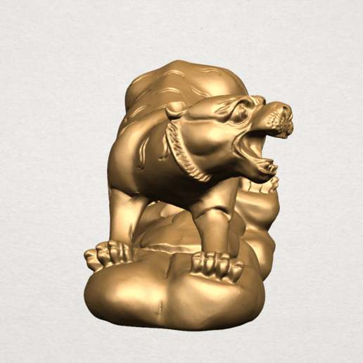 Chinese Horoscope03-A05.png Download free STL file Chinese Horoscope 03 Tiger • 3D printer template, GeorgesNikkei
